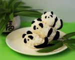 Panda Bear Rice Balls n We Heart Pandas by theresahelmer