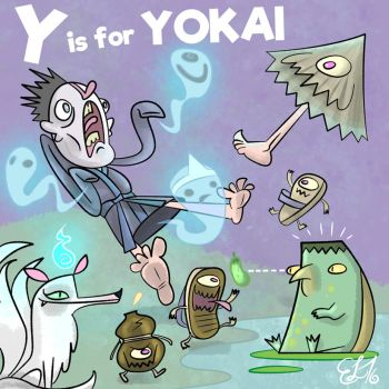 ALPHAMABET OF DANGEROU - Y is for YOKAI by FLUMPCOMIX