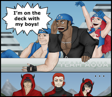 Team Aqua's On A Boat by CruelComediette