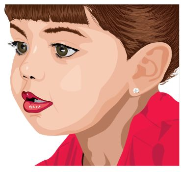 girl in vector by Refs