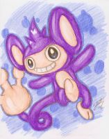 Happy Tappy Aipom by StarOblivion