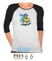 Sad Autumn-Fairy Ladies 3/4 Sleeve Tee Shirts by tessieart333