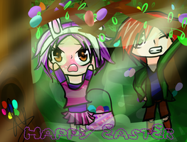 Nian, They're Too High! -Happy Easter!- by IvyDevi