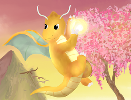 Dragonite by KangarooCake
