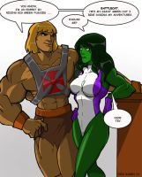 He Man and She Hulk by Misterho
