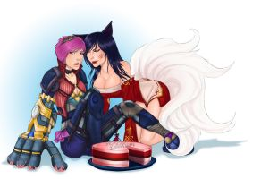 Ahri and Vi - Birthday Gift -EDIT- by Eeren