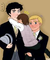 Johnlock+Archie~The wedding by neko-narusasu
