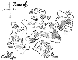 Zencath mAp Black and white by skystears