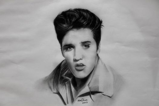 'The King' Elvis Presley by InnerComa
