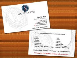 N1 Security business card by syntex-nz