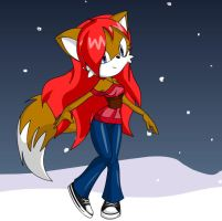 Alicia the fox by lilliethecat