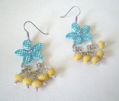Sparkly Flowers Earrings 3 by RetroRevivalBoutique