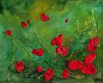 RED POPPIES by ARTBYTERESA