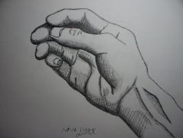 Hand sketch by DHuff-art