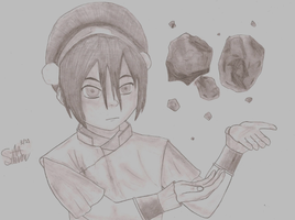 Toph, The Earthbender by Dekumonz