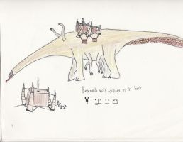 Behemoth with village by Archipithecus