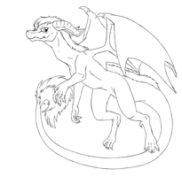 Dragon lineart by catlover1672