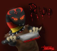 Art Trade Ruu Imma pose with this cleaver by Galvan1c-Miscr3ation