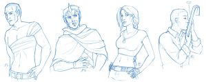 PE - Sketches for Davina by AmyClark