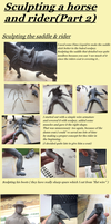 Sculpting a horse and rider (Part2 ) by ClawsUnion