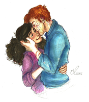 Ron and Hermione by Catching-Smoke