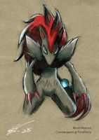 Zoroark Speedpaint by ColorSergeant