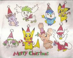 A Merry Pokemon Chirstmas by SkunkyRainbow270