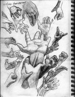Hands Study by apcMurray