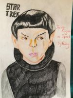 Spock drawing in colour  by ChuckyAndy