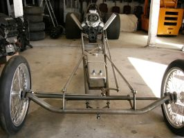 Old School Dragster Under Construction by RoadTripDog