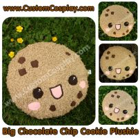 Chocolate chip cookie plushie by The-Cute-Storm