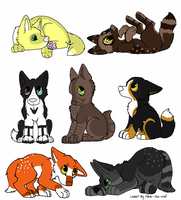 canine group 4 (closed) by ki-neko-animura