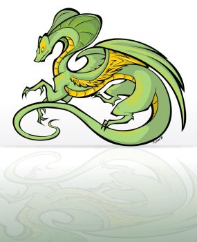 Snake Dragon color by KM-cowgirl