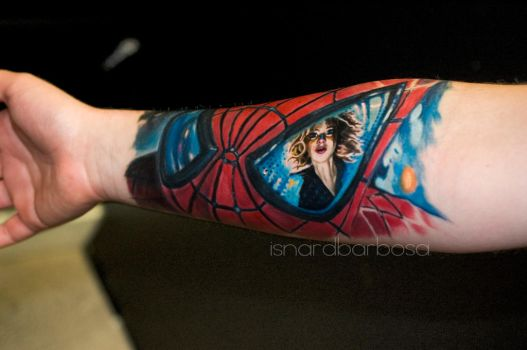 spider man and gwen stacy by tattooneos