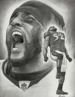 Ray Lewis drawing by clay86c