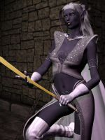 Female Drow 01 by Riveda1972