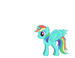 Alicorn Rainbow Dash by Winged--Maned--Wolf