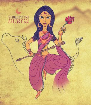 ShailPutri Durga by Merlinsbeard