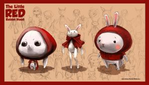 The Litte Red Rabbit Hood Character Design by anacathie