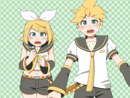 wondering Rin and Len by grimay