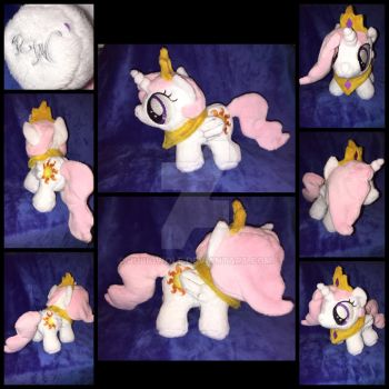 MLP 7in Filly Celestia Plushie w/regalia-EFNW 2016 by RubioWolf