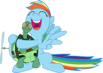 Rainbow Dash and Tank by Magister39