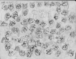 100 heads and poses P19 by Redfoxbennaton