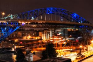 Cuyahoga River Bridges by BStadler