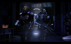 ME3 Sanctuary - Alan Shepard and Garrus 2 by chicksaw2002