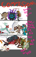 Commissions please read below*** open to haggle! by zer0starX
