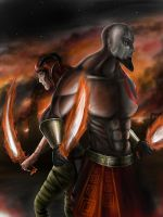 Kratos and Willow request by jose144