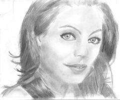 Mila Kunis Portrait Unfinished by KingFromHatena