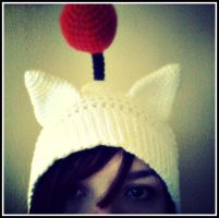 Final Fantasy Inspiration Moogle Hat by oywiththeplushies