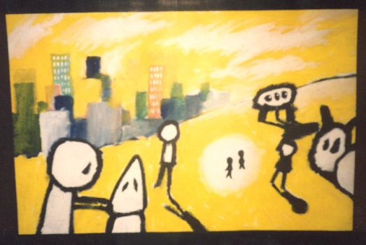 Yellow painting by maskin